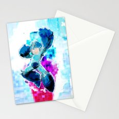 Mega Man WaterPixel (created initially for Storm Unity's Mega Man Marathon) Stationery Cards