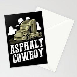 Asphalt Cowboy | Trucker Stationery Cards