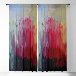 """Release"" Original oil finger painting by Monika Toth Blackout Curtain"