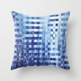 Nautical pixel abstract pattern Throw Pillow