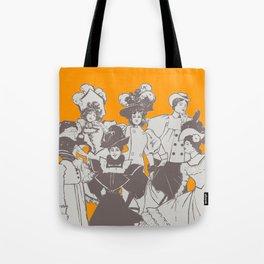 Vintage Ladies APRICOT / Vintage illustration redrawn and repurposed Tote Bag