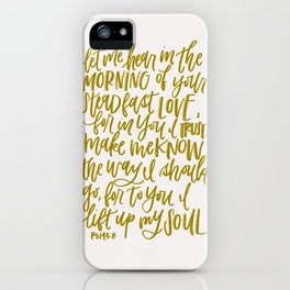 Let Me Hear in the Morning iPhone Case