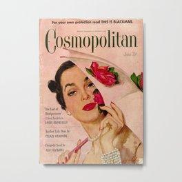 Vintage Cosmopolitan Metal Print