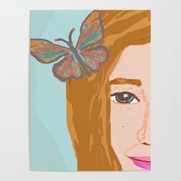Butterfly Girl Poster