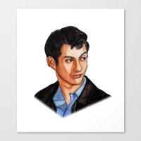 alex turner Canvas Prints featuring Alex Turner by Janet Datu
