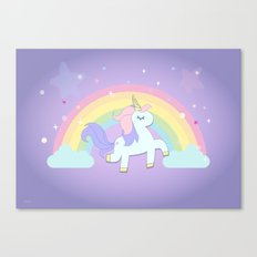 be a unicorn, forever ... Canvas Print