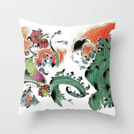 Godzilla vs Biollante a'la DANG Throw Pillow