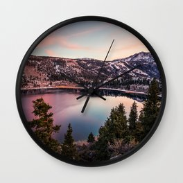 Picture California USA June Spruce Nature Lake Scenery landscape photography Wall Clock