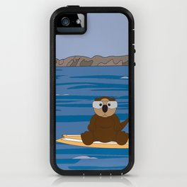 Otter by Jacki Spiegel iPhone Case