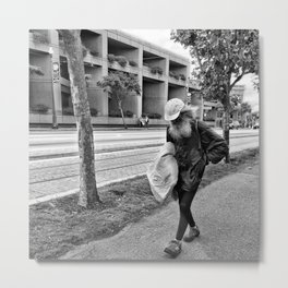 Walking Metal Print