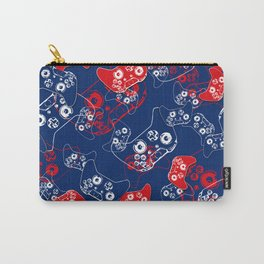Video Game Red White & Blue 2 Carry-All Pouch