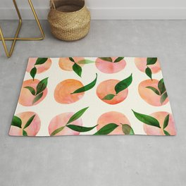 Abstract Orchard / Watercolor Fruit Rug
