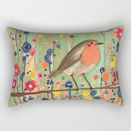je ne suis pas qu'un oiseau revisited Rectangular Pillow