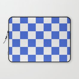 Checkered - White and Royal Blue Laptop Sleeve