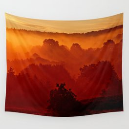 Mystical foggy morning Wall Tapestry