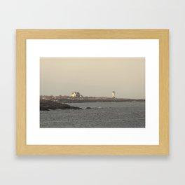 Hazy Straitsmouth lighthouse Framed Art Print