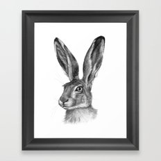 Cute Hare portrait G126 Framed Art Print