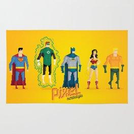 Justice League of America - Pixel Nostalgia Rug