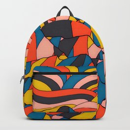 The rocks and hills of colour Backpack