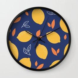 Lemon Summer Wall Clock
