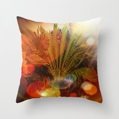 Tropical plants and flowers Throw Pillow
