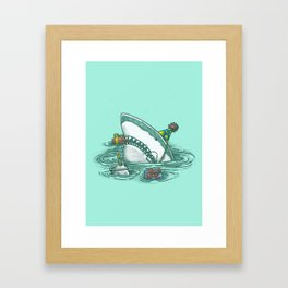 Happy Birthday Shark Framed Art Print