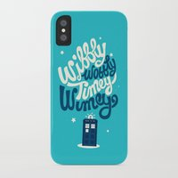 risa rodil iPhone & iPod Cases featuring Wibbly Wobbly Timey Wimey by Risa Rodil