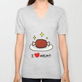 """I LOVE MEAT """"MANGA"""" Unisex V-Neck"""