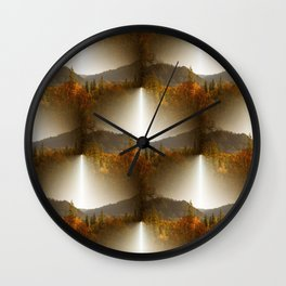 Golden Lace in the mountains... Wall Clock