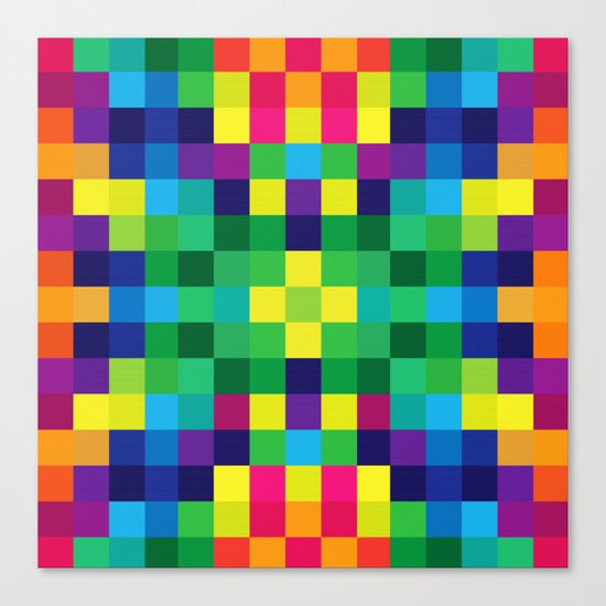 Colorful Geometric Background II Canvas Print