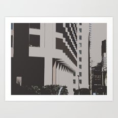 Building Shapes Art Print