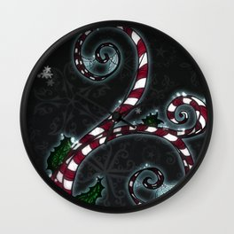 Candy Cane Vine Wall Clock