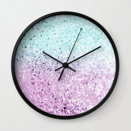 Mermaid Lady Glitter #2 #decor #art #society6 Wall Clock