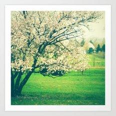 Meet Me Under the Old Apple Tree Art Print