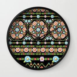 Millefiori Folkloric Stripe Wall Clock
