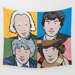 Doctors 1 to 4 Wall Tapestry