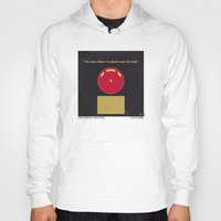 2001 a space odyssey Hoodies featuring No003 My 2001 A space odyssey 2000 minimal movie poster by Chungkong