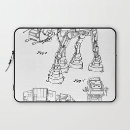 At At Walker Patent - At-At Walker Art - Black And White Laptop Sleeve