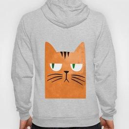 Orange cat with attitude Hoody