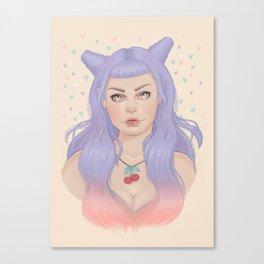 Cherry Necklace Canvas Print