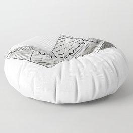 Newspaper Boat Floor Pillow