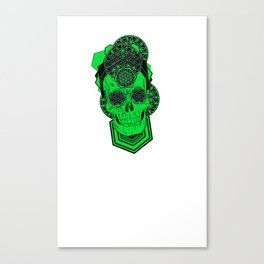Bursting Geo Skull Canvas Print