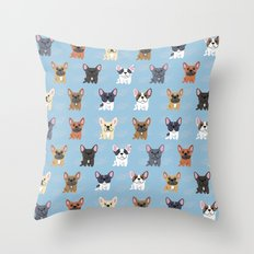 French Bulldogs Throw Pillow
