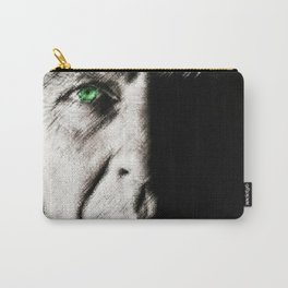 Black and white painting - Man with one green eye - Jeanpaul Ferro Carry-All Pouch