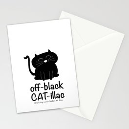 off-black CAT-illac  Stationery Cards