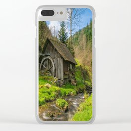 Watermill Life in the Country Clear iPhone Case