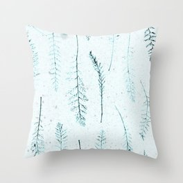 Botanical Pattern 3 (blue) Throw Pillow