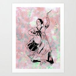 Mago's Janggu Chum  (Traditional Korean dancer with drum) Art Print