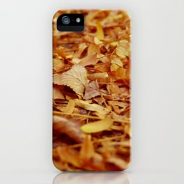 The Autumn leaves iPhone Case