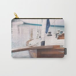 Wood Sailing Boat Carry-All Pouch